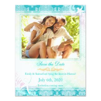 Summer Starfish Wedding Photo Save the Date Card