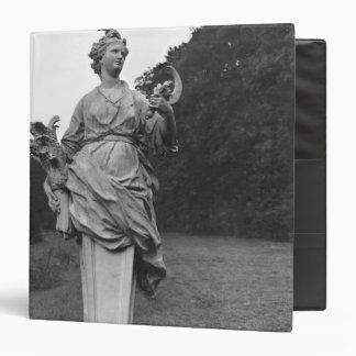 Summer, statue in the gardens 3 ring binder