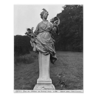 Summer, statue in the gardens poster