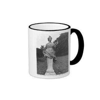 Summer, statue in the gardens ringer mug