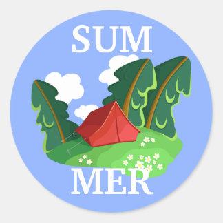 """Summer"" sticker (customizable)"