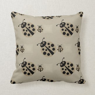 Summer Stone Polka Dot Lady Bugs Pillow