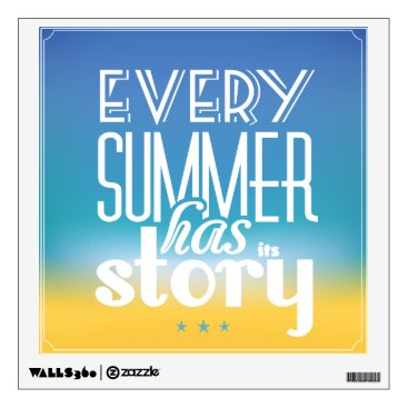 all_summer_products Summer Stories Square Wall Decal