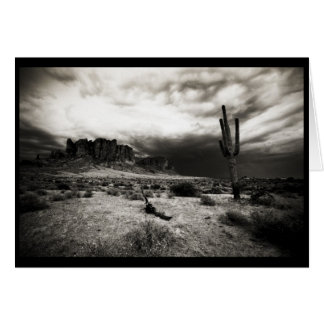 Summer Storm at the Superstition Mountains Card