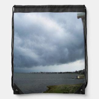 Summer Storm Clouds Drawstring Bag