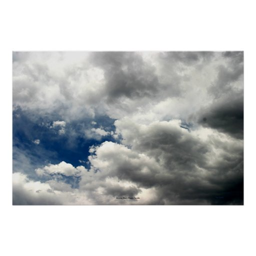 Summer Storm Clouds, Nevada Posters