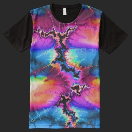 Summer Storm Fractal All-Over Print T-shirt