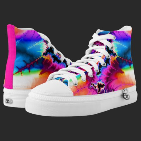 Summer Storm Fractal High-Top Sneakers
