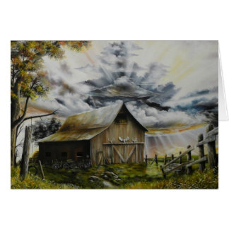 Summer Storm Oil Painting Card