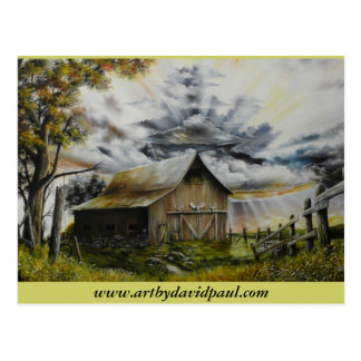 Summer Storm Oil Painting Postcards