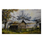 Summer Storm Oil painting Poster