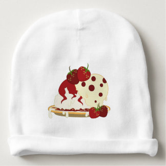 Summer Strawberries And Ice Cream Art Baby Beanie