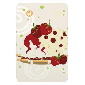 Summer Strawberries And Ice Cream Art Magnet