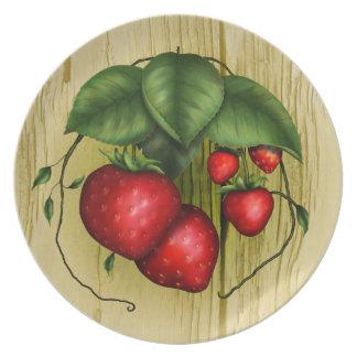 Summer Strawberries Plates