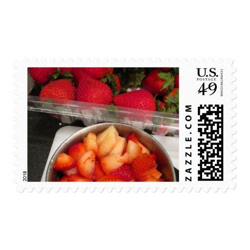 Summer Strawberries Postage Stamps