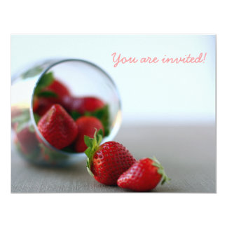 """Summer Strawberry Collection 4.25"""" X 5.5"""" Invitation Card"""