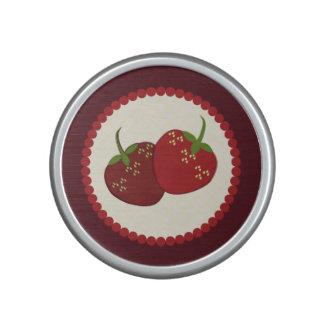 Summer Strawberry Cream Pie Art Speaker
