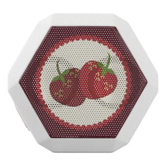 Summer Strawberry Cream Pie Art White Bluetooth Speaker