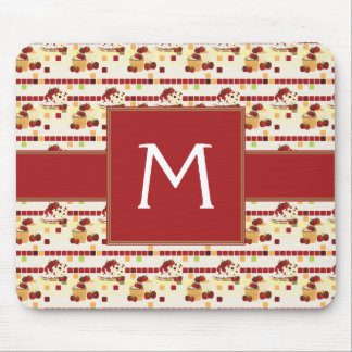 Summer Strawberry Sweet Treats Pattern - Initial Mouse Pad