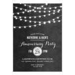 Summer String Lights Anniversary Party Invitation