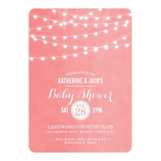 Summer String Lights Baby Shower Invitation