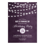 Summer String Lights Birthday Party Invitation at Zazzle