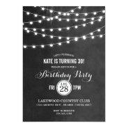 Summer String Lights Birthday Party Invitation at Zazzle