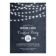Summer String Lights Cocktail Party 5x7 Paper Invitation Card at Zazzle