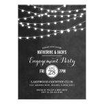 trendy, summer wedding, string lights, engagement