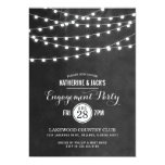 Summer String Lights Engagement Party Invitation at Zazzle