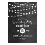 Summer String Lights Going Away Party Card at Zazzle