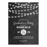 Summer String Lights Graduation Party Card at Zazzle