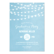 Summer String Lights Graduation Party 5x7 Paper Invitation Card at Zazzle