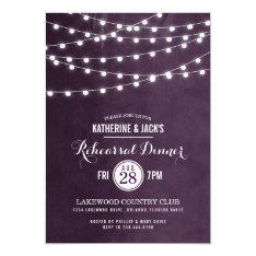 """Summer String Lights Rehearsal Dinner Invitation 5"""" X 7"""" Invitation Card at Zazzle"""