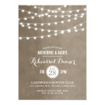 Summer String Lights Rehearsal Dinner Invitation at Zazzle
