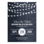 Summer String Lights Save the Date Announcement