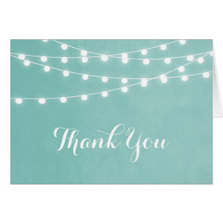 Summer String Lights Thank You Card