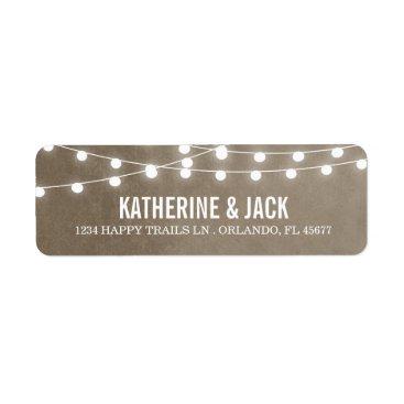 rileyandzoe Summer String Lights Wedding Address Labels