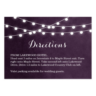 Summer String Lights Wedding Directions Insert Business Cards