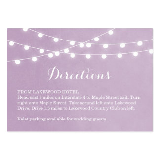 Summer String Lights Wedding Directions Insert Large Business Card