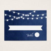 Summer String Lights Wedding Escort Cards