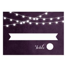 Summer String Lights Wedding Escort Cards Business Card Templates