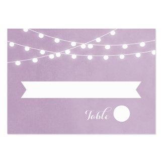 Summer String Lights Wedding Escort Cards Large Business Card