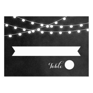 Summer String Lights Wedding Escort Cards Large Business Cards (Pack Of 100)