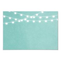 Summer String Lights Wedding Insert Card at Zazzle