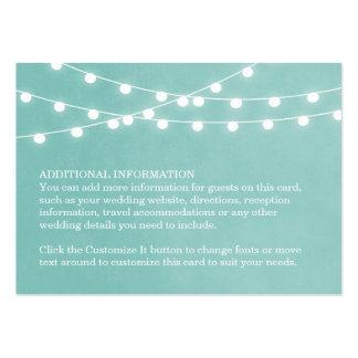 Summer String Lights Wedding Insert Card
