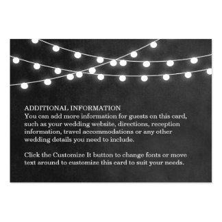 Summer String Lights Wedding Insert Card Business Card