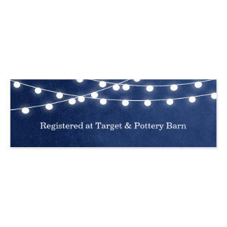 Summer String Lights Wedding Insert Card Double-Sided Mini Business Cards (Pack Of 20)
