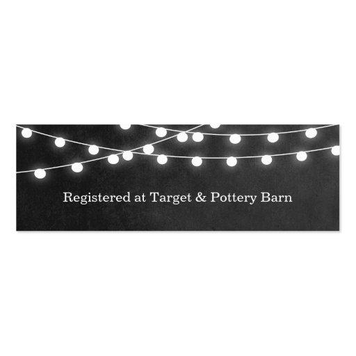 String Lights Template : Summer String Lights Wedding Insert Card Business Card Template Zazzle