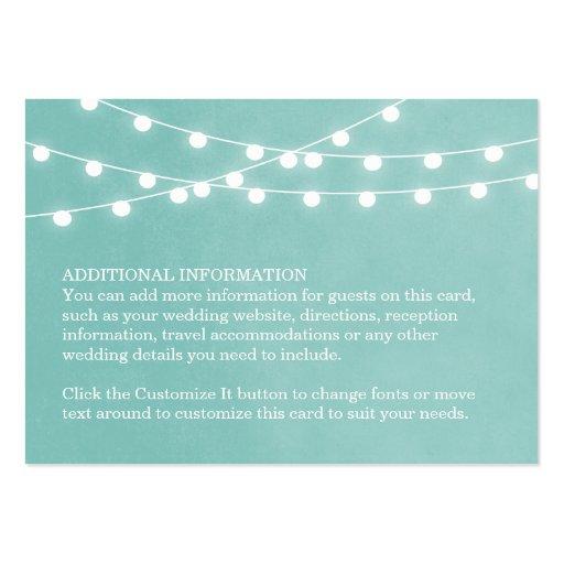 Summer String Lights Wedding Insert Card Business Card Templates